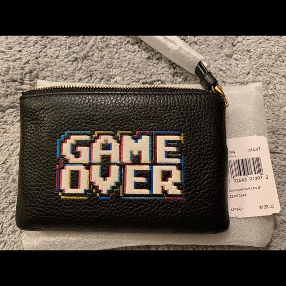 NWT Coach x Pac-Man Game Over Zip Wristlet Wallet